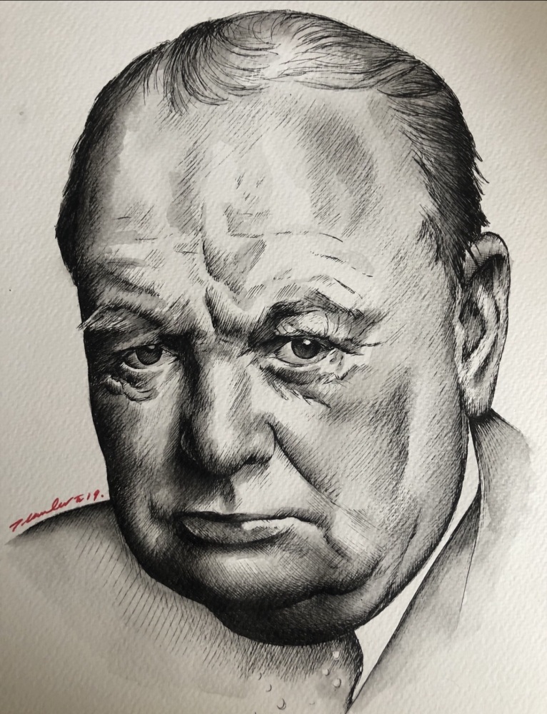 Winston Churchill by TraceyLawler